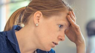 Women looking distressed