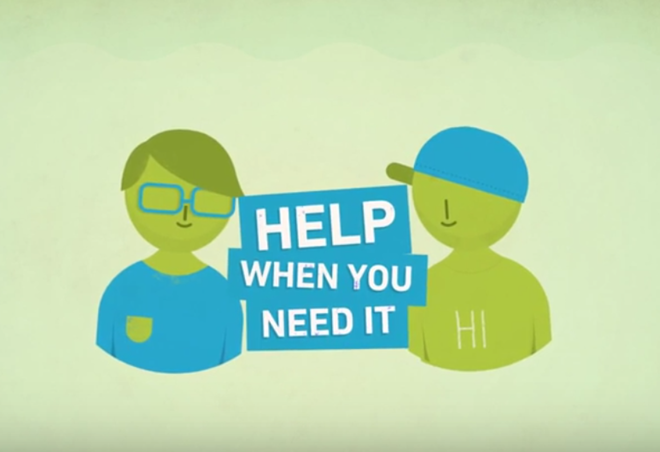 Video for kids in care