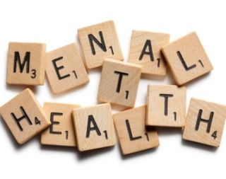 Mental health spelled out in puzzle pieces